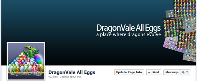 DragonVale All Eggs Facebook Page