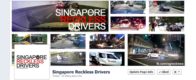 Singapore Reckless Drivers Facebook Page