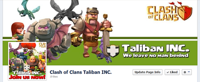 Clash Of Clans Taliban INC. Facebook Page