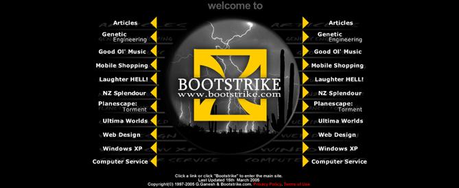 Bootstrike.com Webdesign