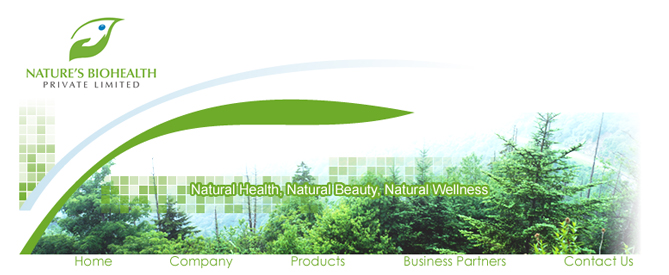 Nature's Bio Health Webdesign