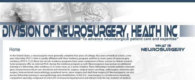 Neurosurgery Webdesign