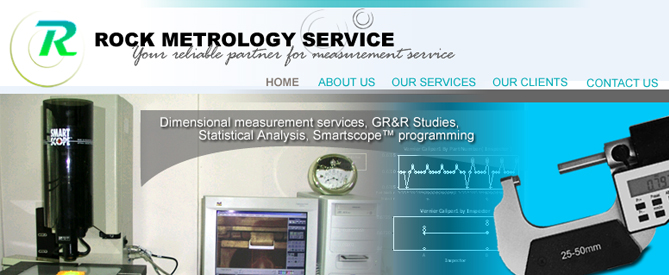 Rock Metrology Service Webdesign