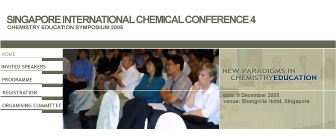 Singapore International Chemical Conference Webdesign