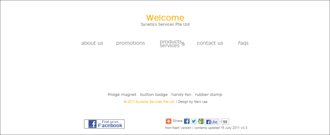 Synetics Services Webdesign